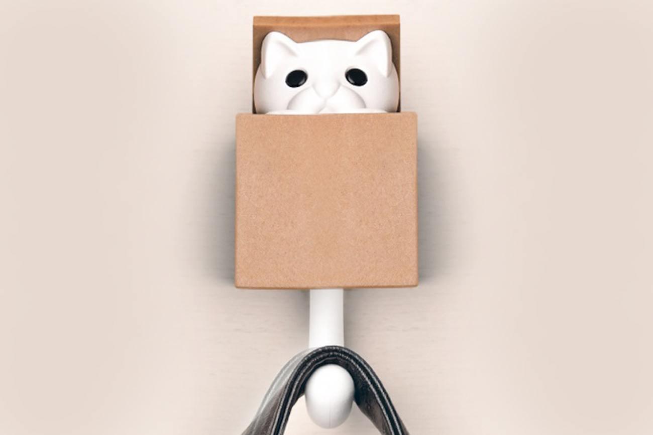 Kitt-a-Boo Peeping Cat Wall Hook