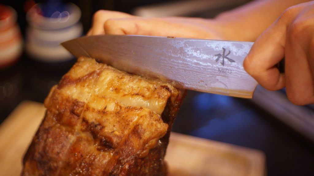 The Mizu premium chef's knife is affordable and a must-have in your kitchen