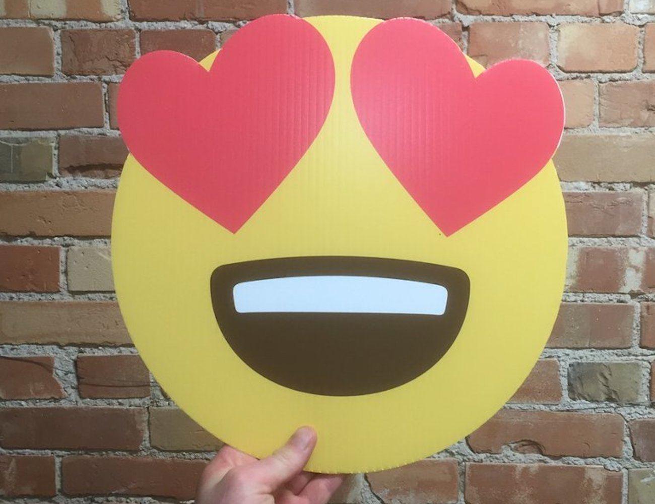Mojigram Plastic Emoji Postcard