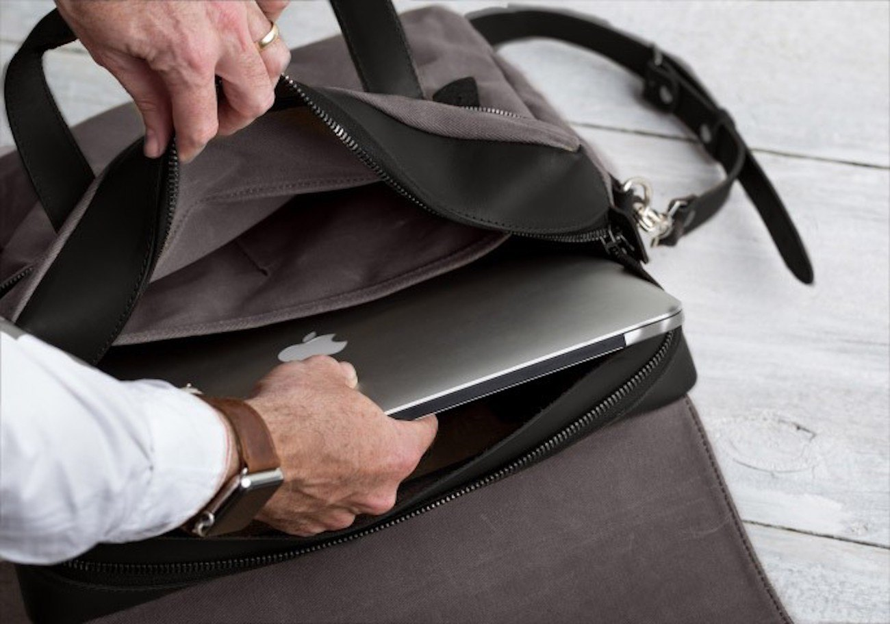 Pad & Quill Large Leather Briefcase
