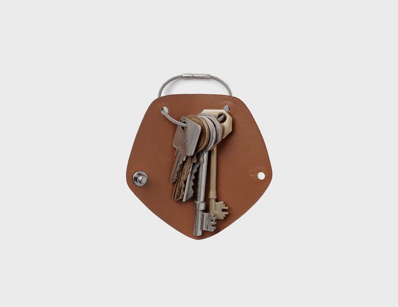 Simple Leather Key Wrap