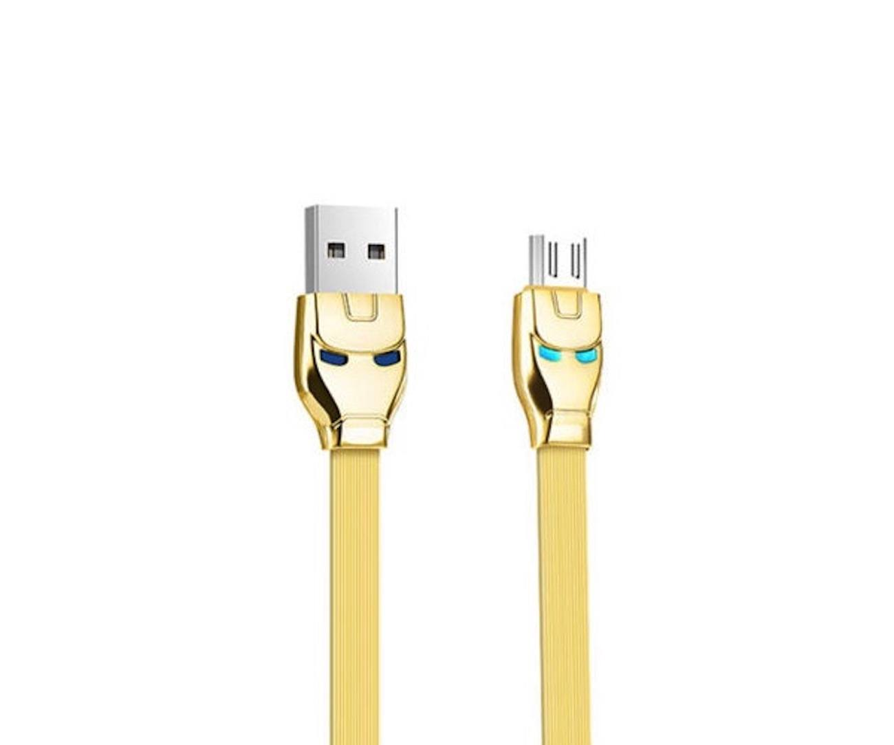 Steel Man MicroUSB Charging Cable