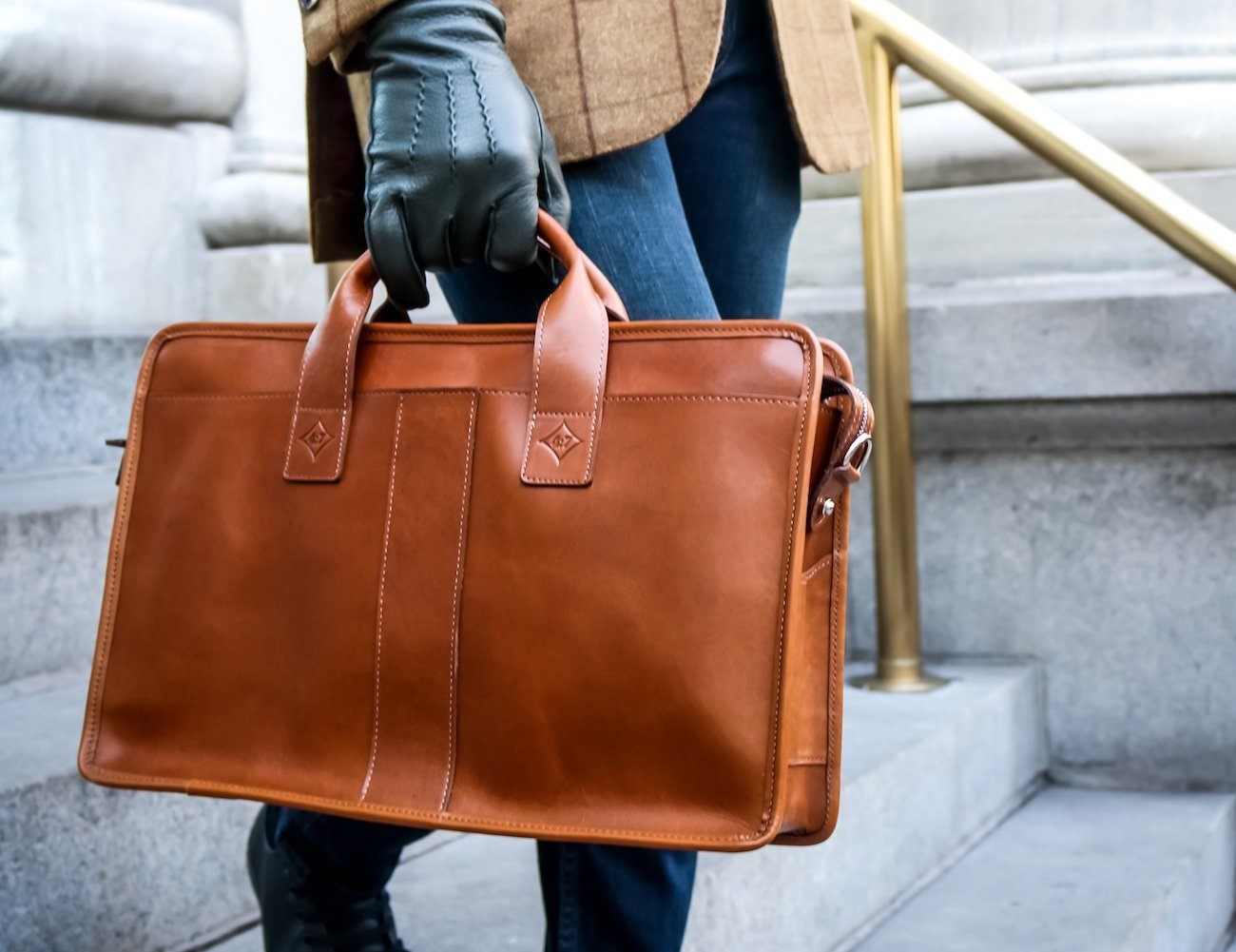 The Vernon Leather Briefcase