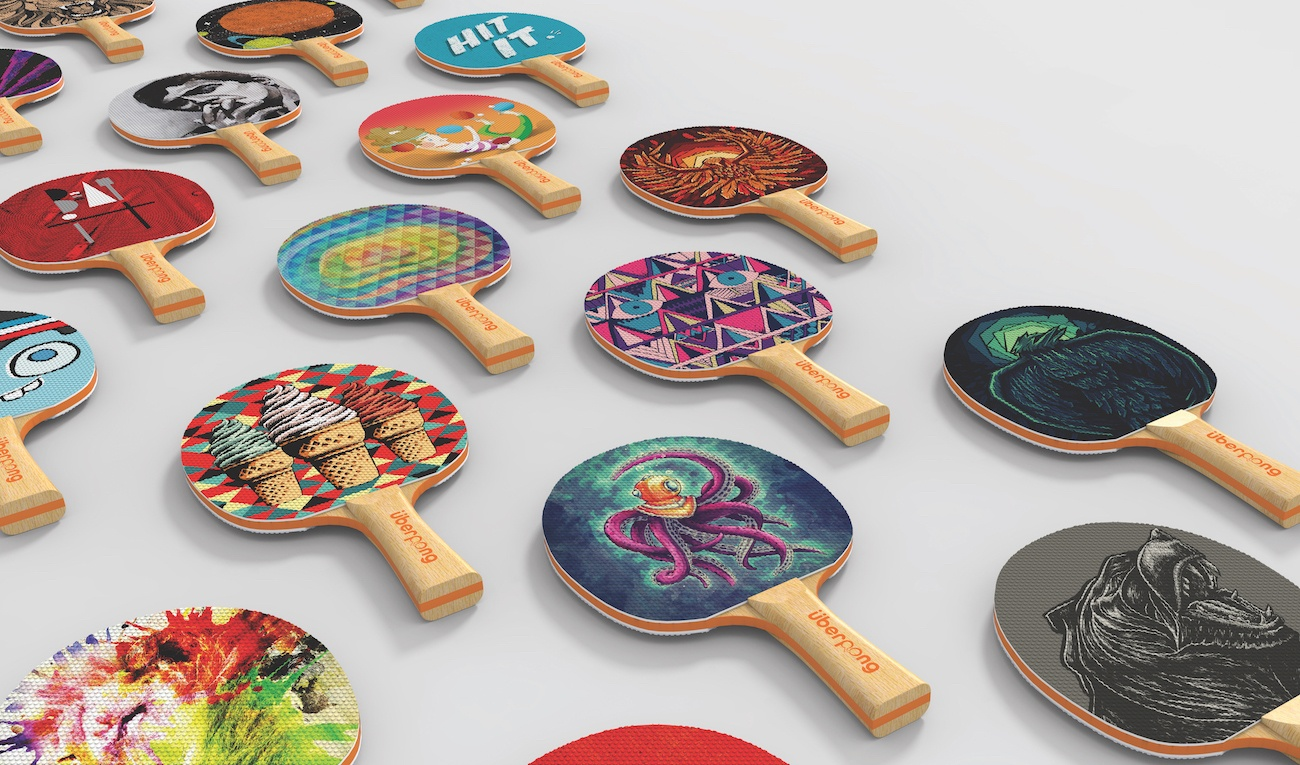 Uberpong Custom Ping Pong Paddle Set