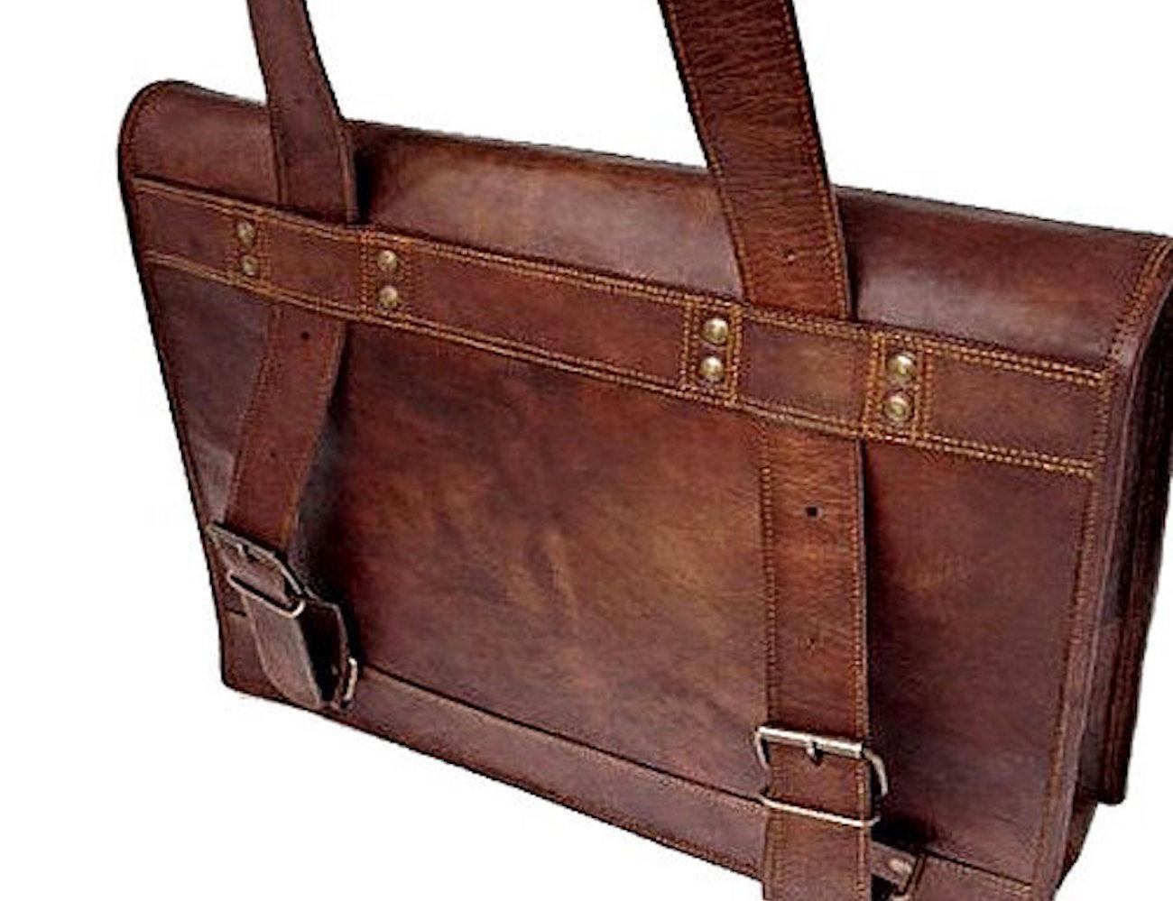 Vintage Haversack Goat Leather Bag