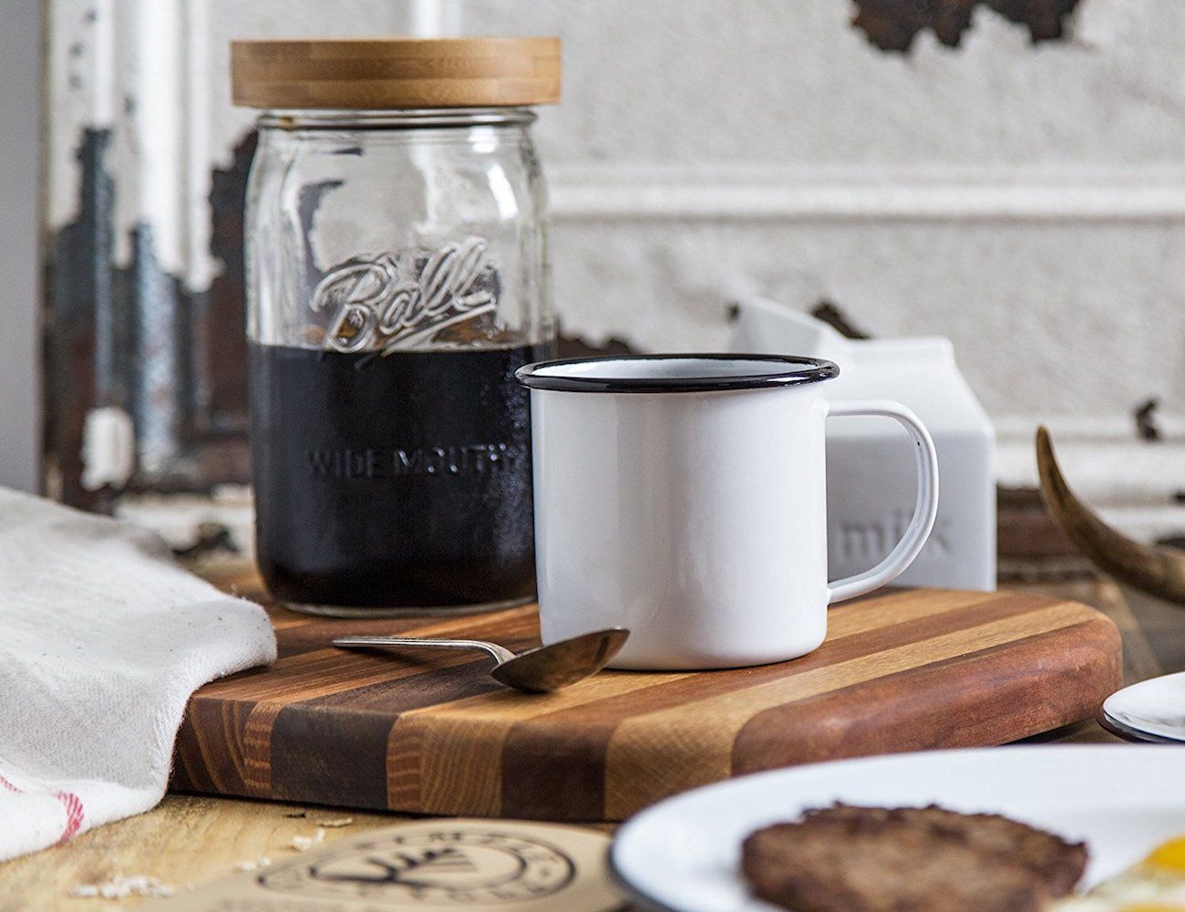 Bamboo Mason Jar Cold Brew Maker Lid