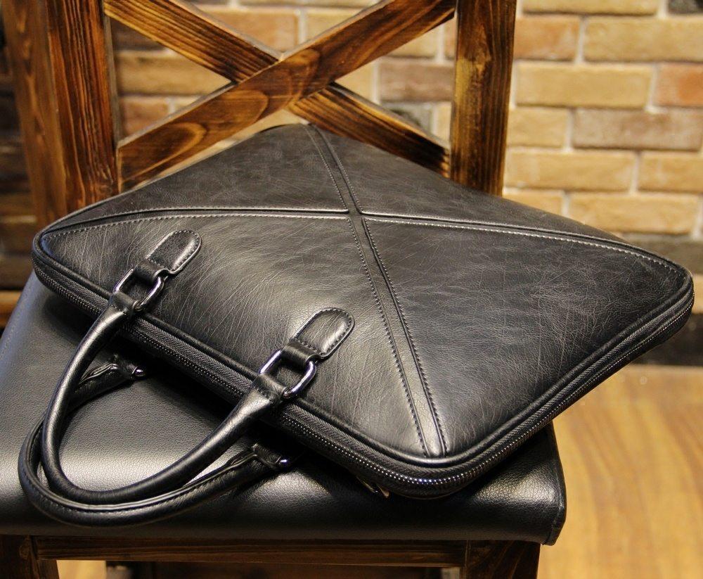 Men's Black Office Briefcase
