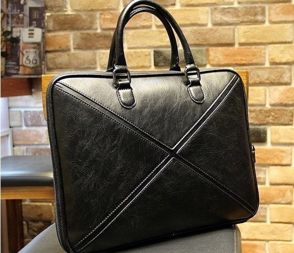 Men's Black Office Briefcase