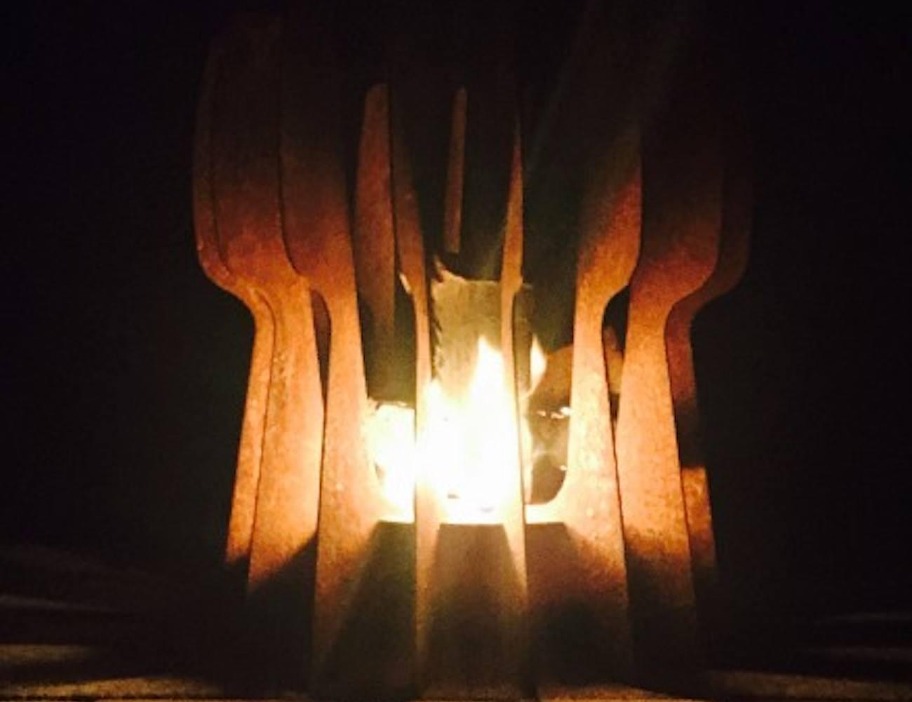 Flint Cor-ten Steel Firepit
