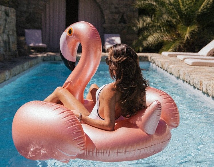 Gigantic Flamingo Pool Float