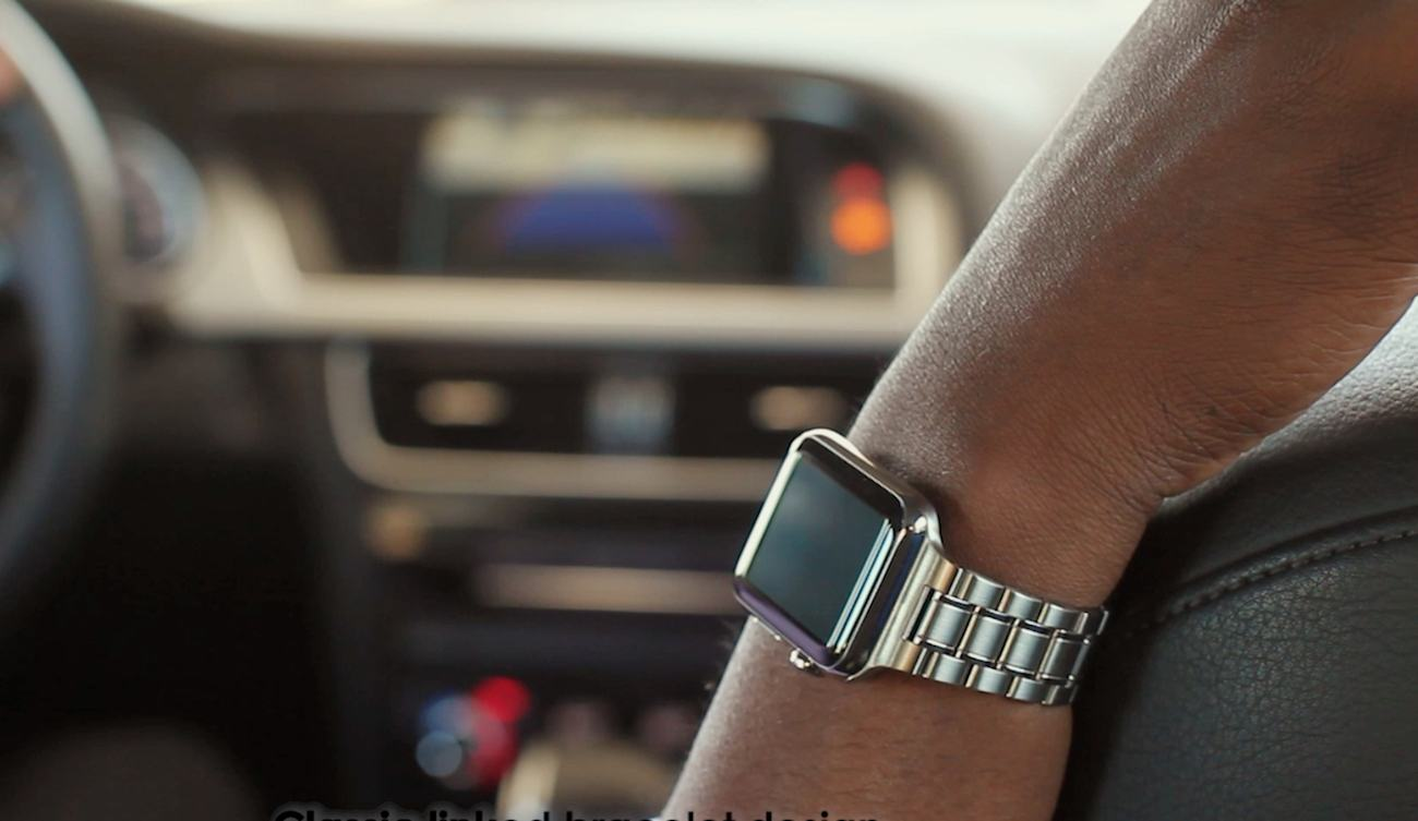 Hyperlink Stainless Steel Apple Watch Band