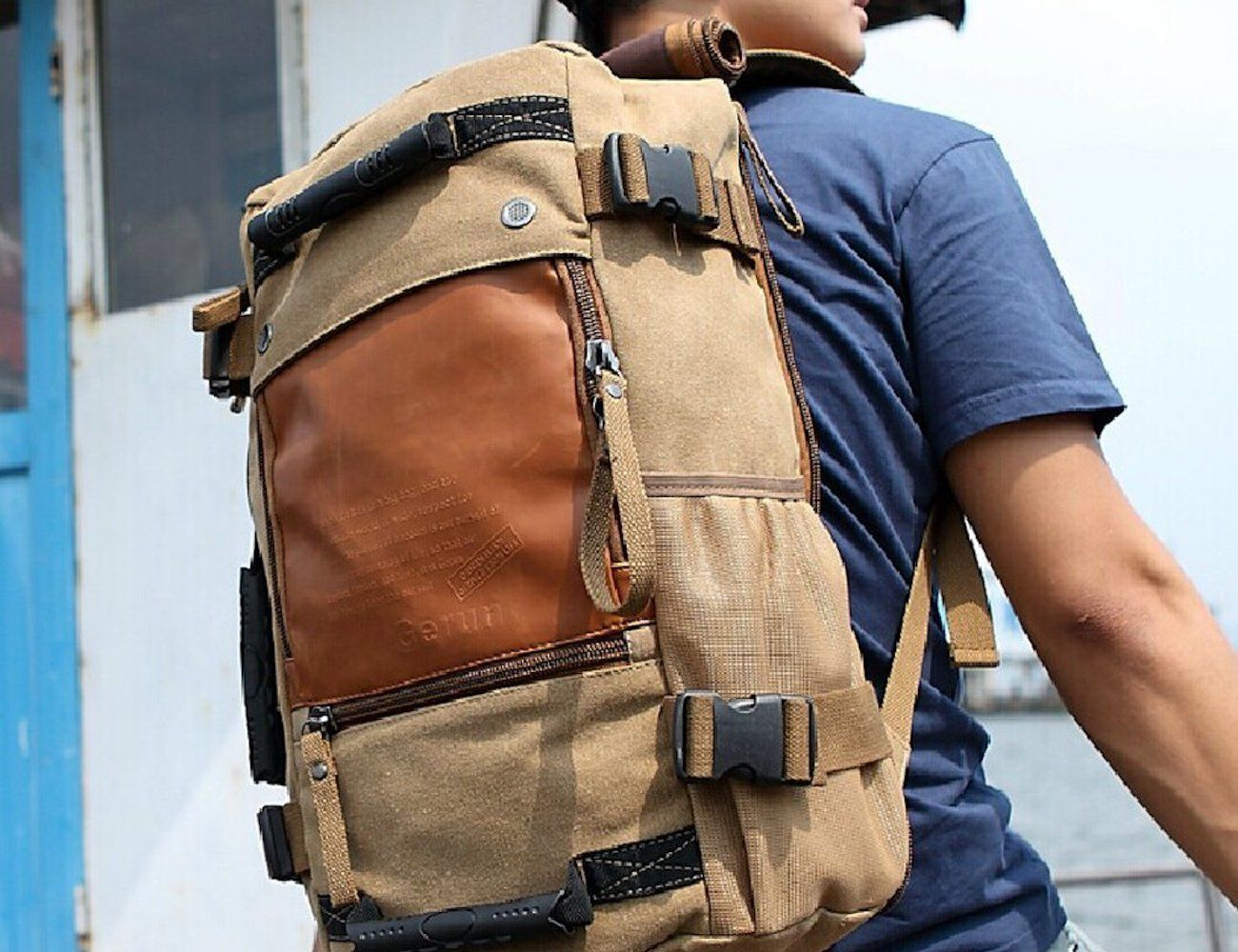 Ibagbar+Canvas+Travel+Backpack
