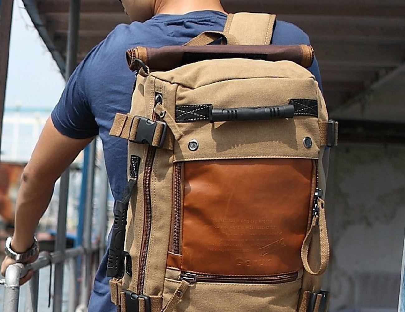 Ibagbar Canvas Travel Backpack