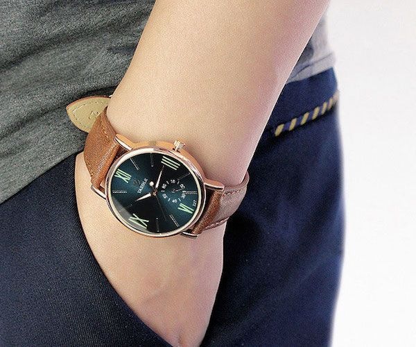 Luxury Wristwatch with Reflective Dial