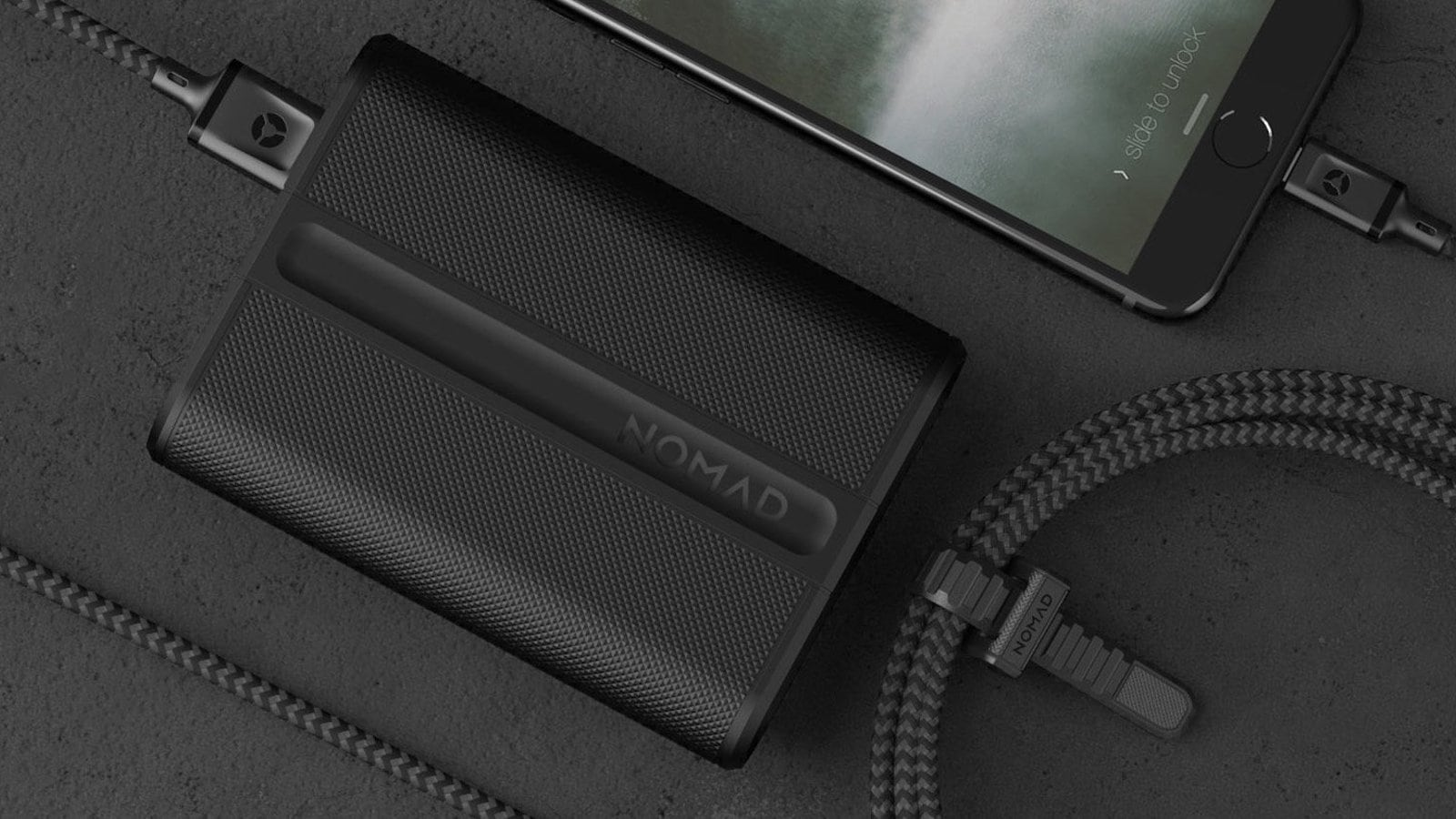 NOMAD PowerPack Trackable Power Bank has integrated Bluetooth Tile tracking