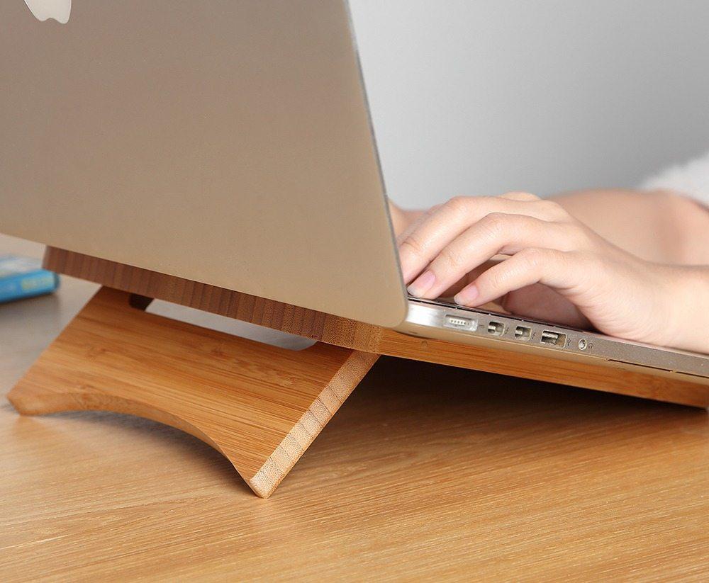 Natural Bamboo MacBook Stand