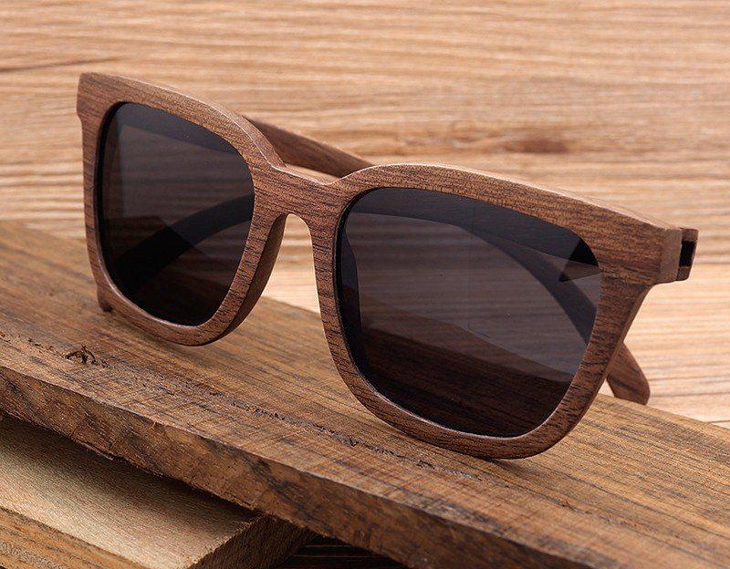 Retro Wooden Sunglasses