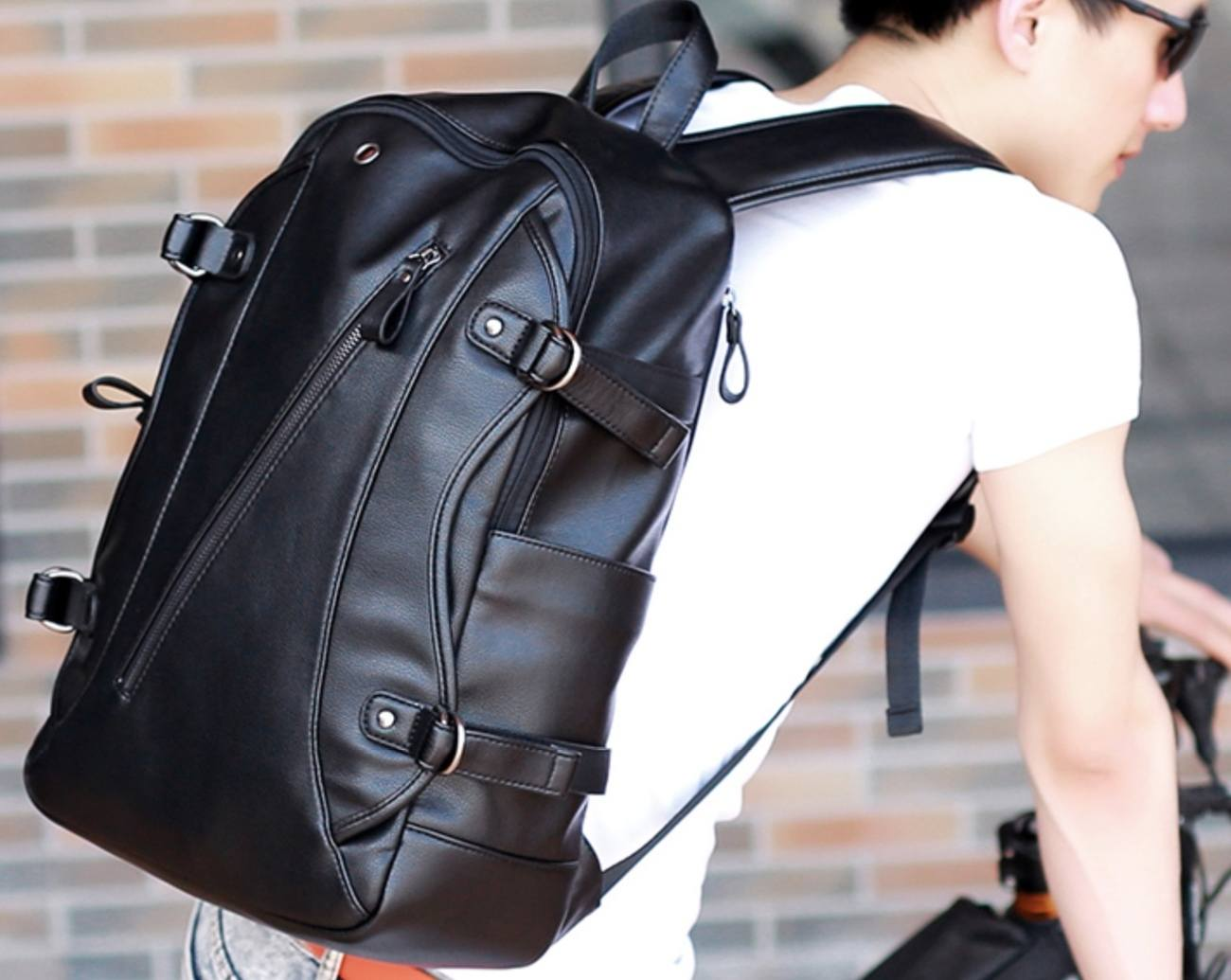 Soft Leather Everyday Backpack