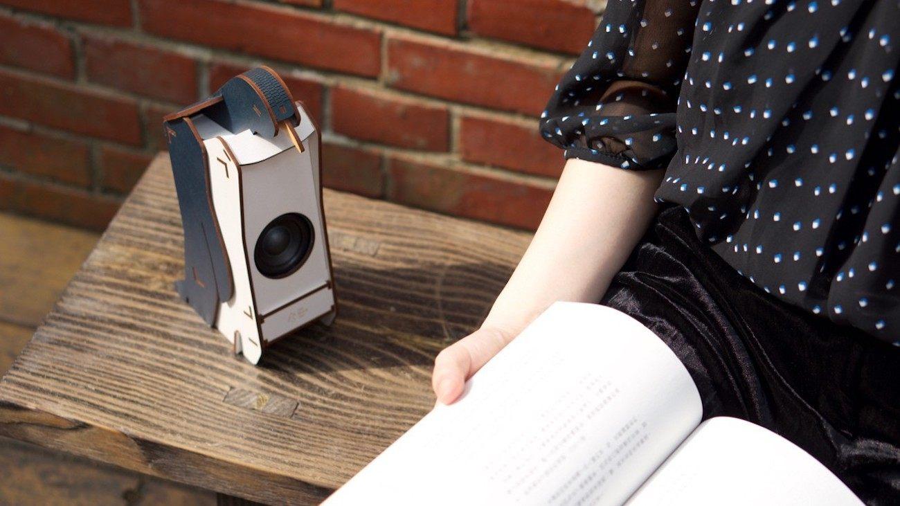 Stereo Puzzle DIY Wood Speaker