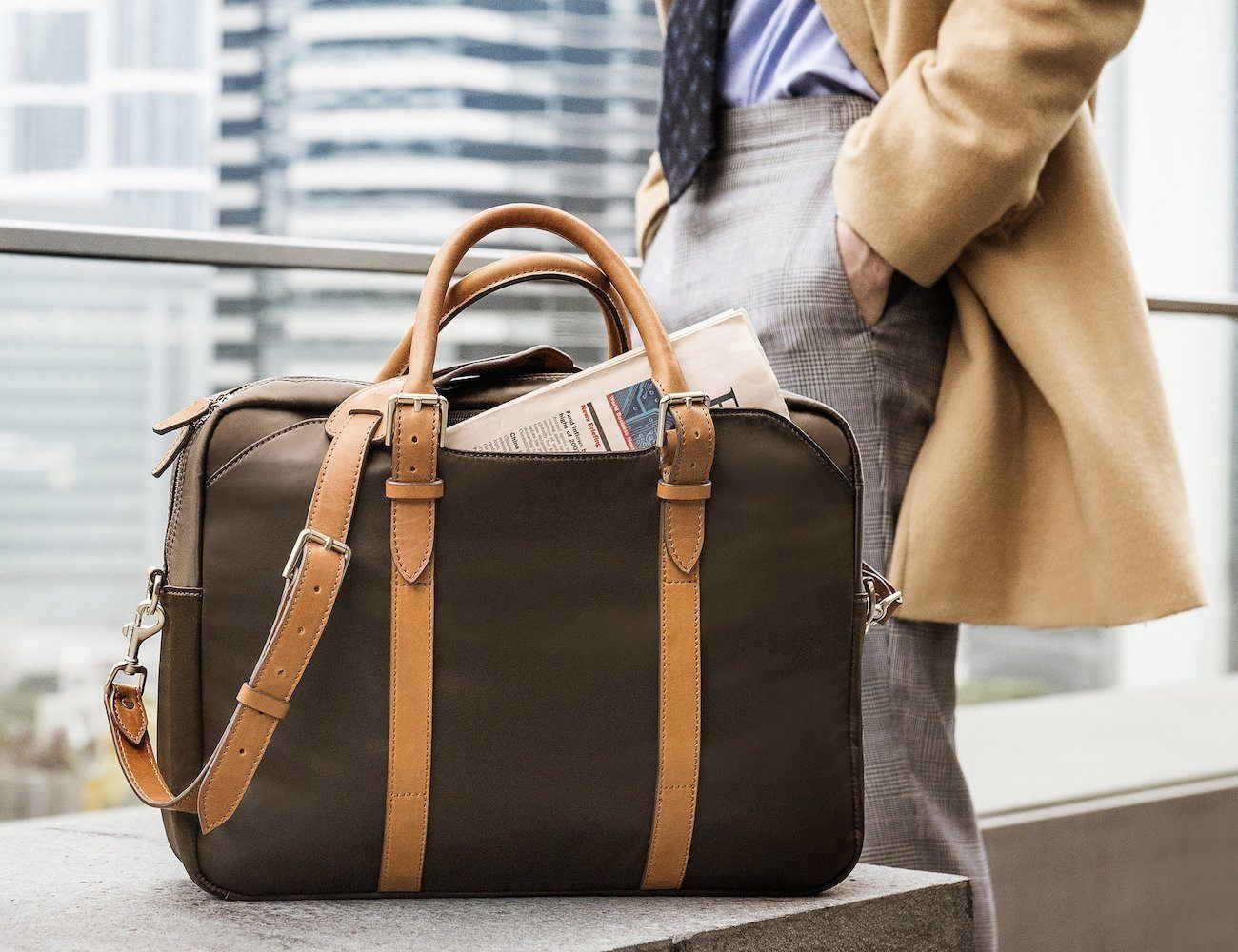 The Cary Premium Briefcase by Stuart & Lau