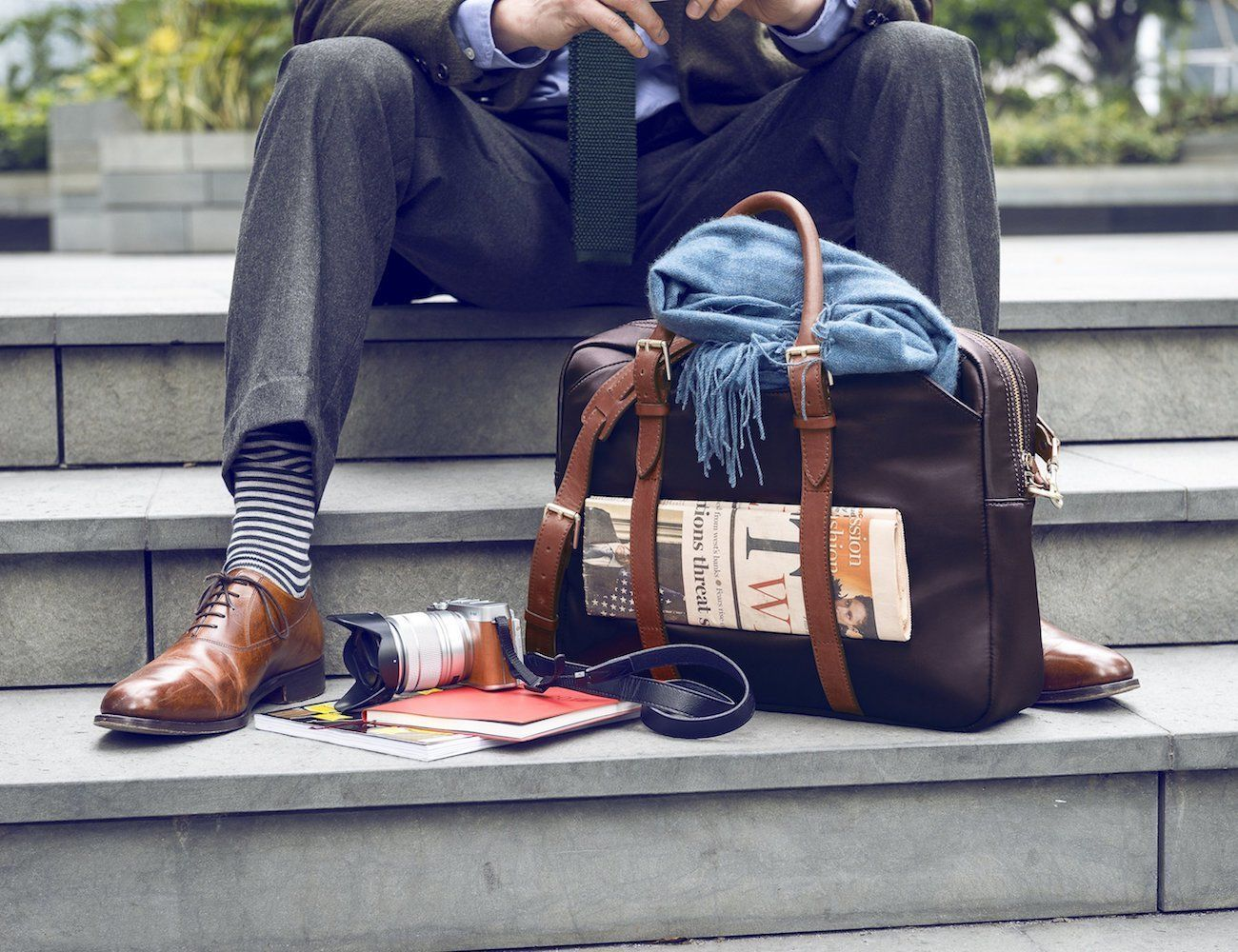 The Cary Premium Briefcase by Stuart & Lau