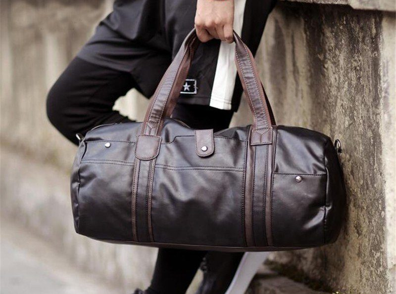 Waterproof Leather Duffle Bag