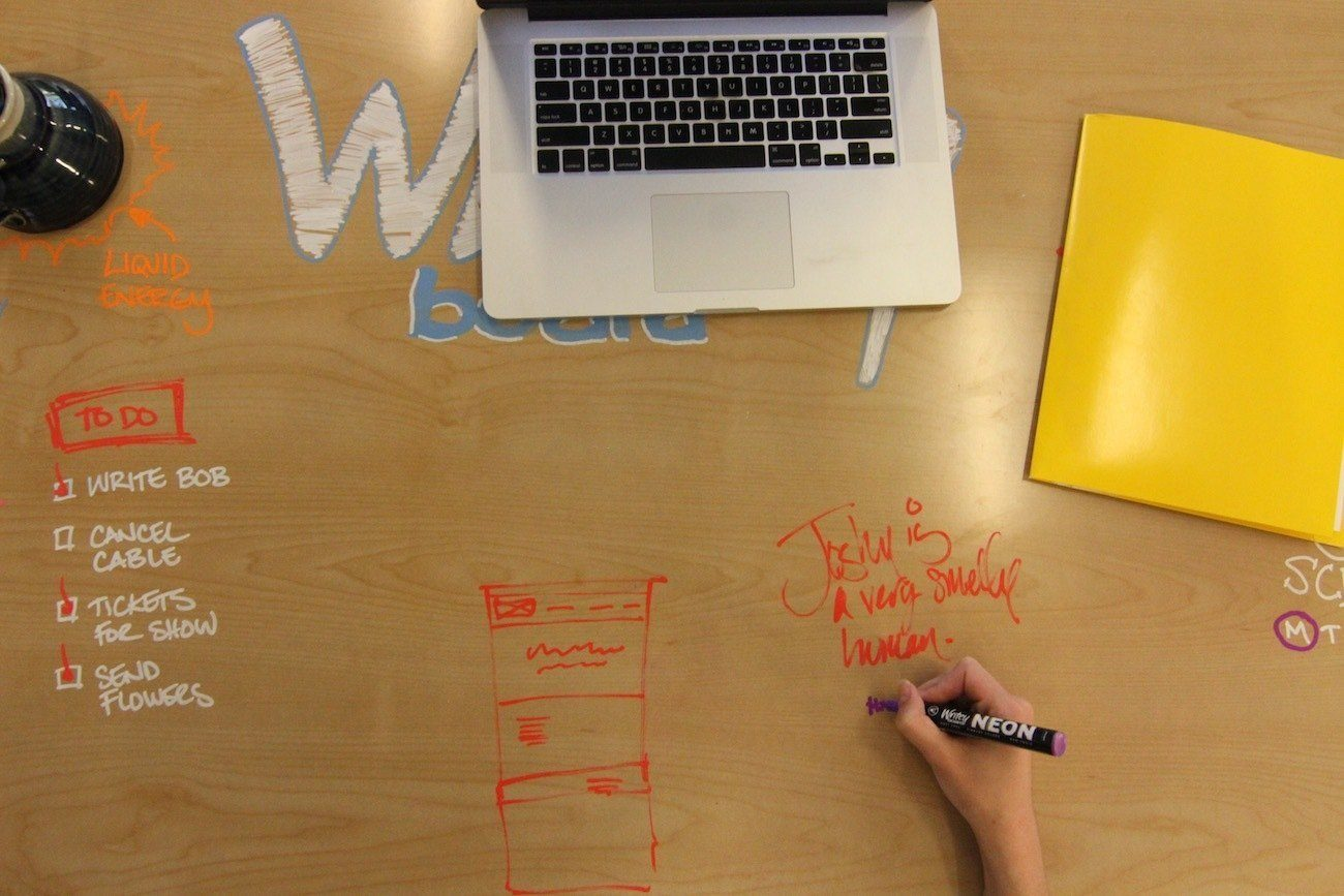 You Can Scribble Like Crazy on This Dry Erase Desk