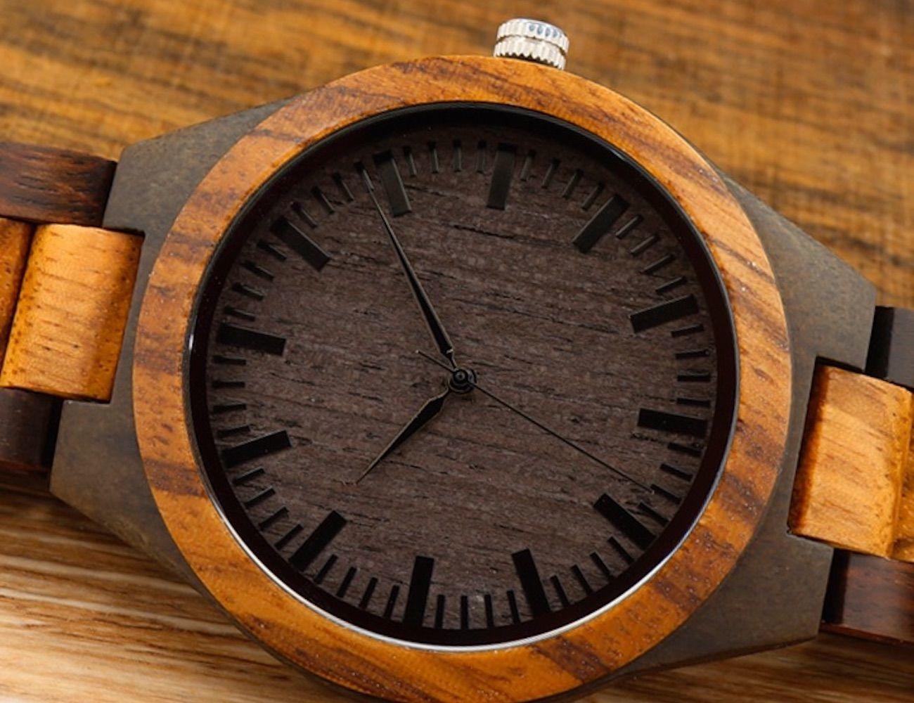 Zebra Style Wooden Watches