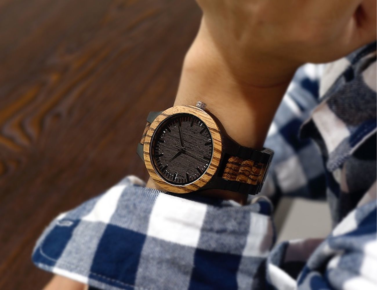 Zebra Style Wooden Watches