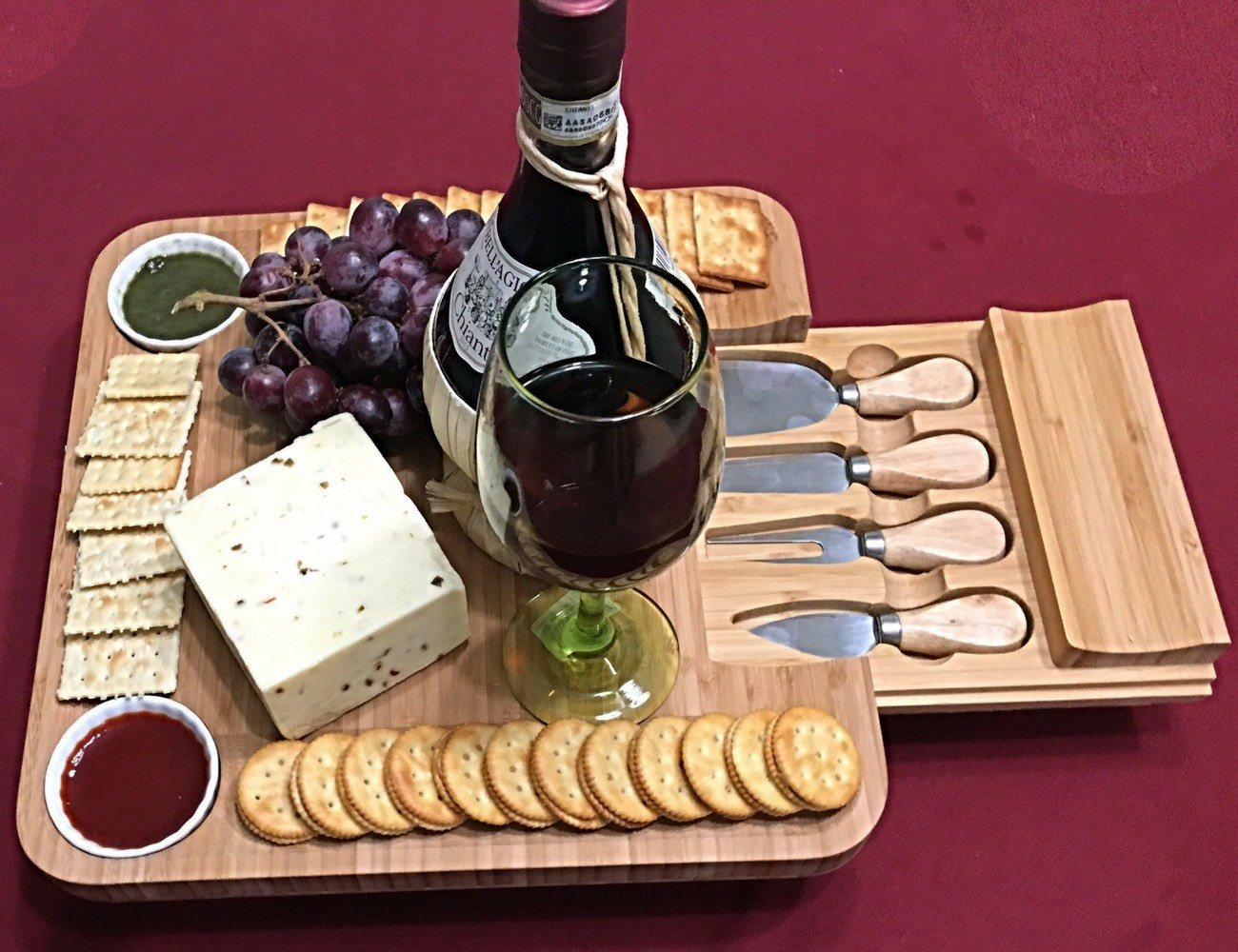 iBambooMart Cheese Serving Tray