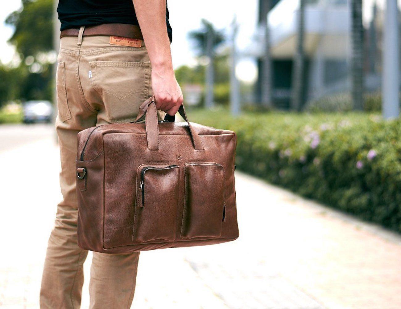 Equz Leather Messenger Bag