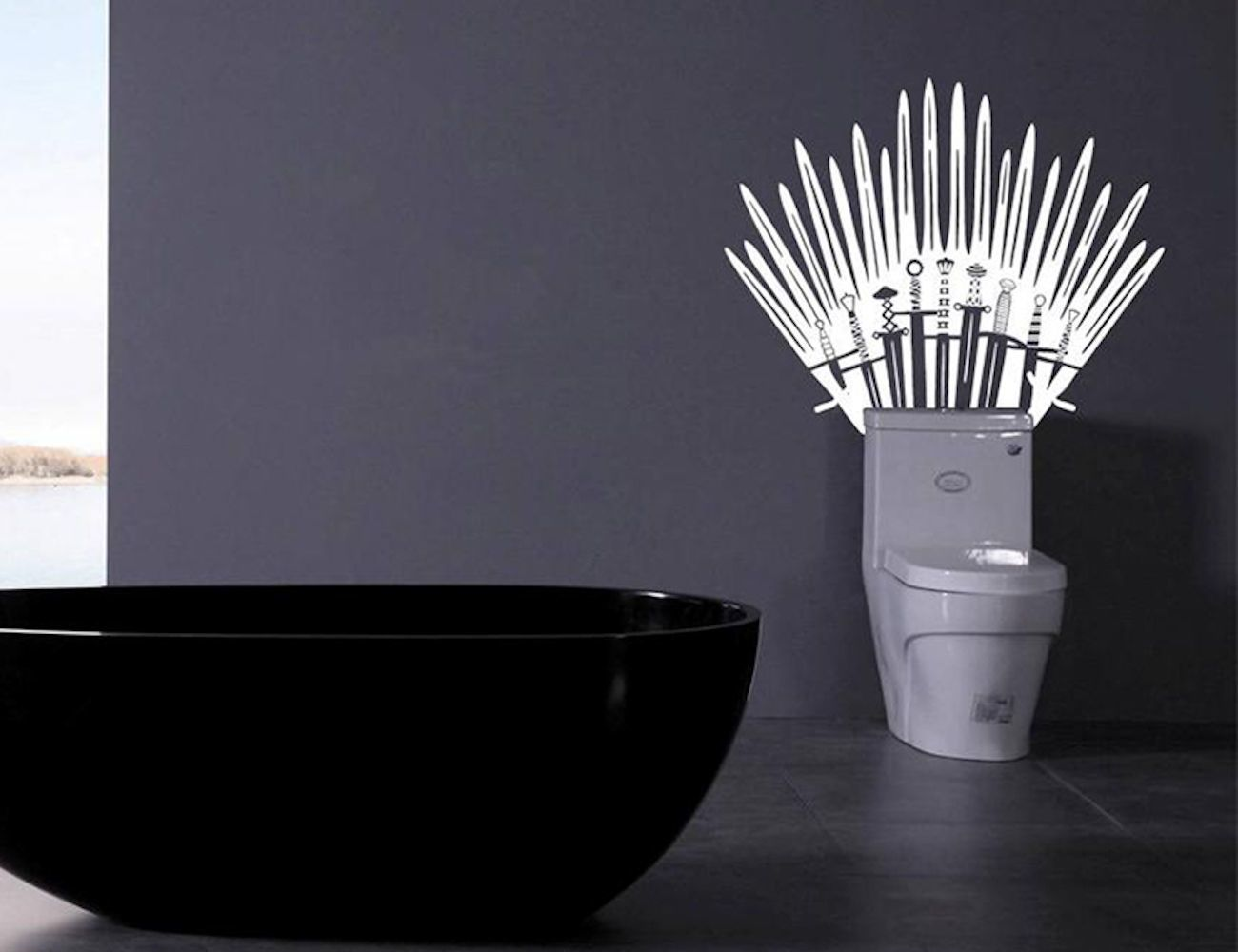 Introducing The Game Of Thrones Iron Throne Toilet Wall Decal