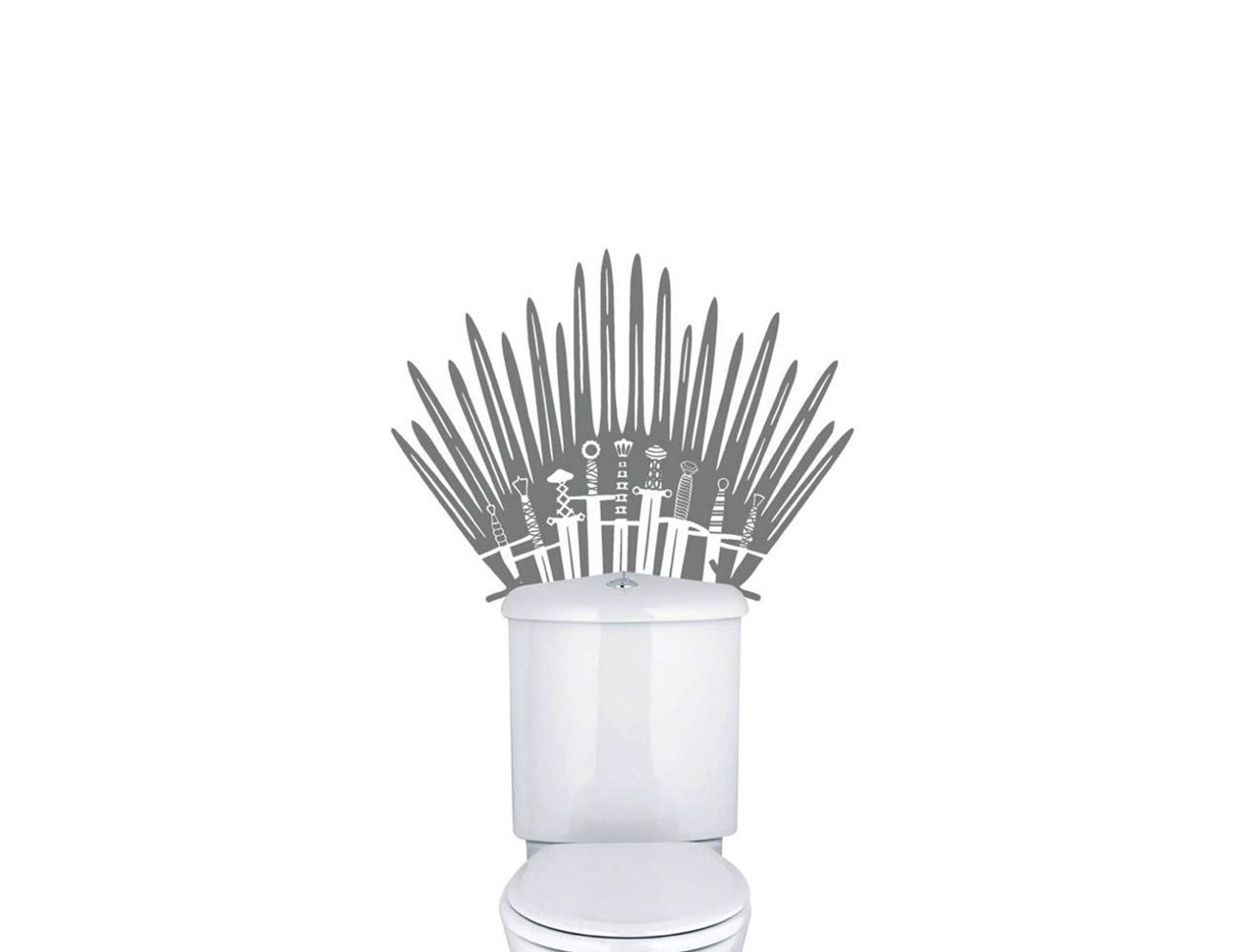 GoT Iron Throne Toilet Wall Decal