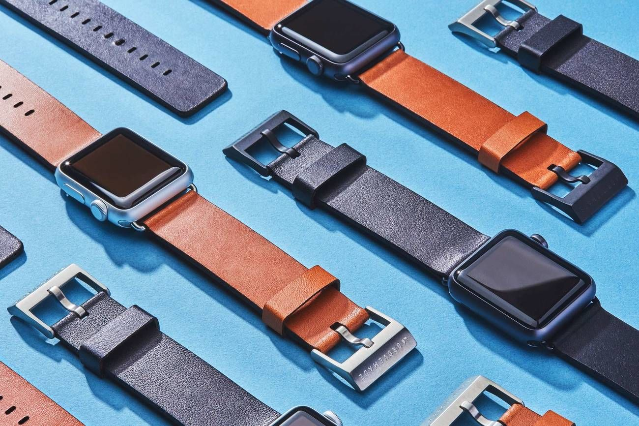 Grovemade Leather Apple Watch Band loading=
