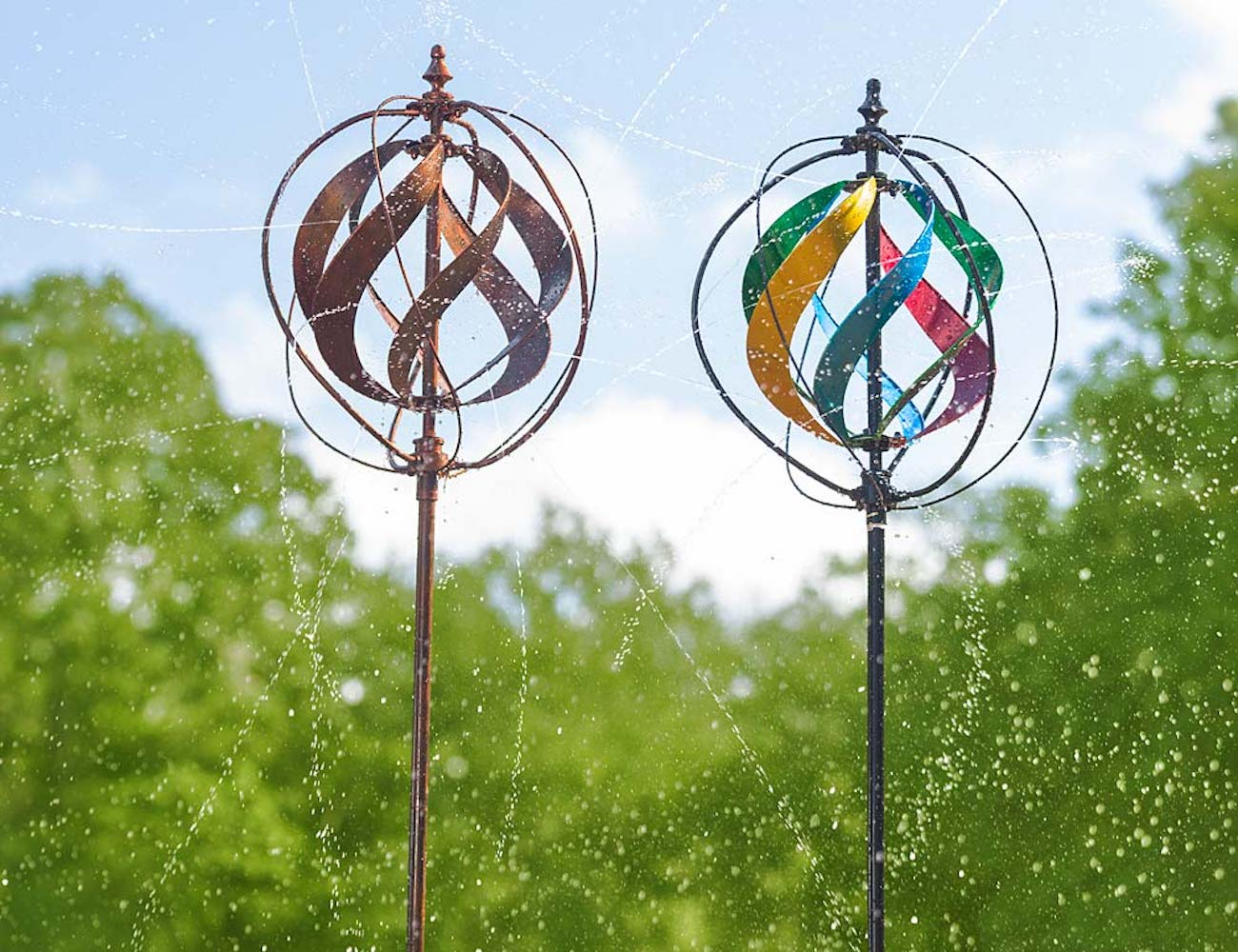 Hydro Ball Garden Wind Spinner Gadget Flow
