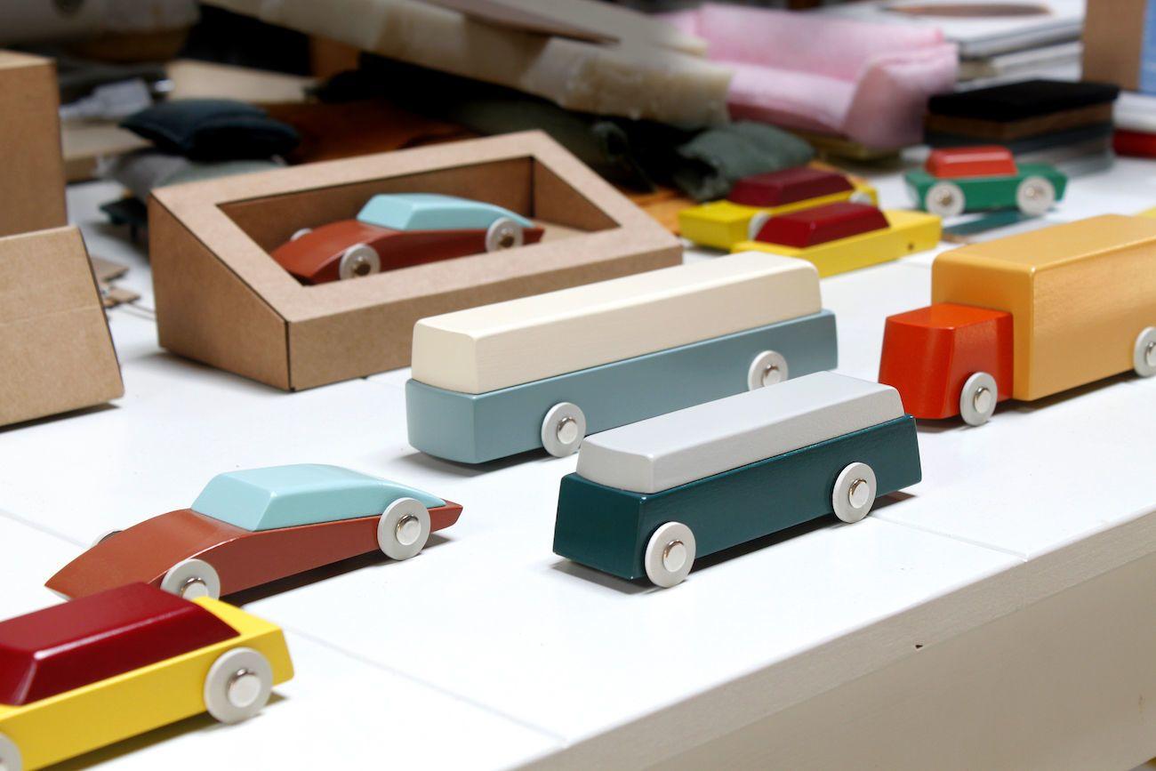Ikonic Modern Duotone Wood Toy Cars