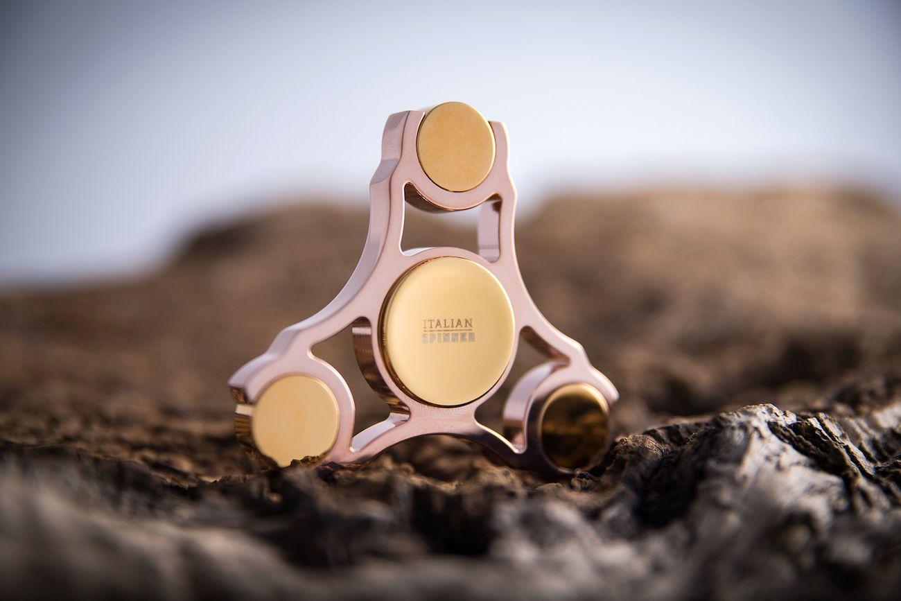 Italian+Gold+Plated+Fidget+Spinner