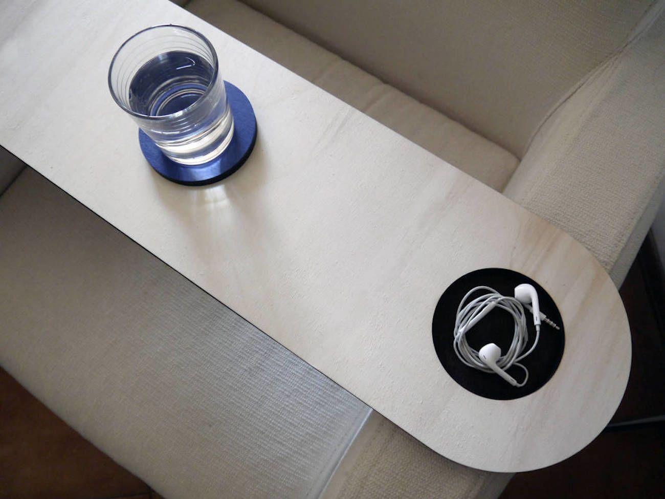 Laser Cut Wood Armchair Table