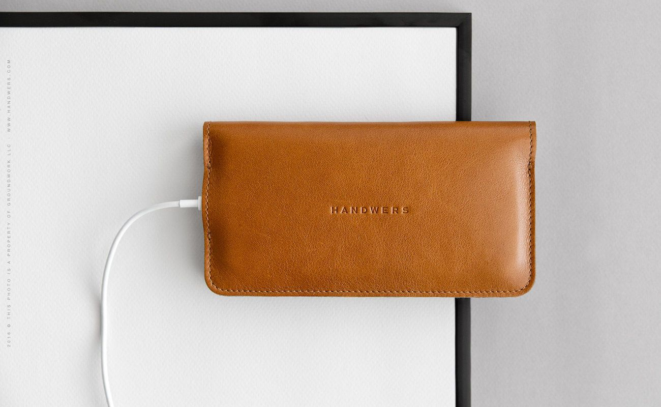 Leather iPhone 7 Wallet Case by HANDWERS