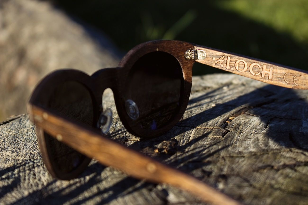 Loch 500-Year-Old Reclaimed Wood Sunglasses