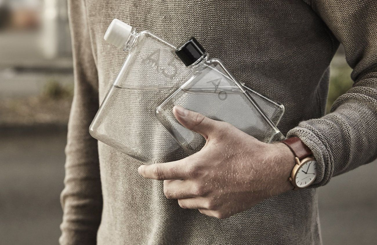 Memobottle Reusable Slim Water Bottle