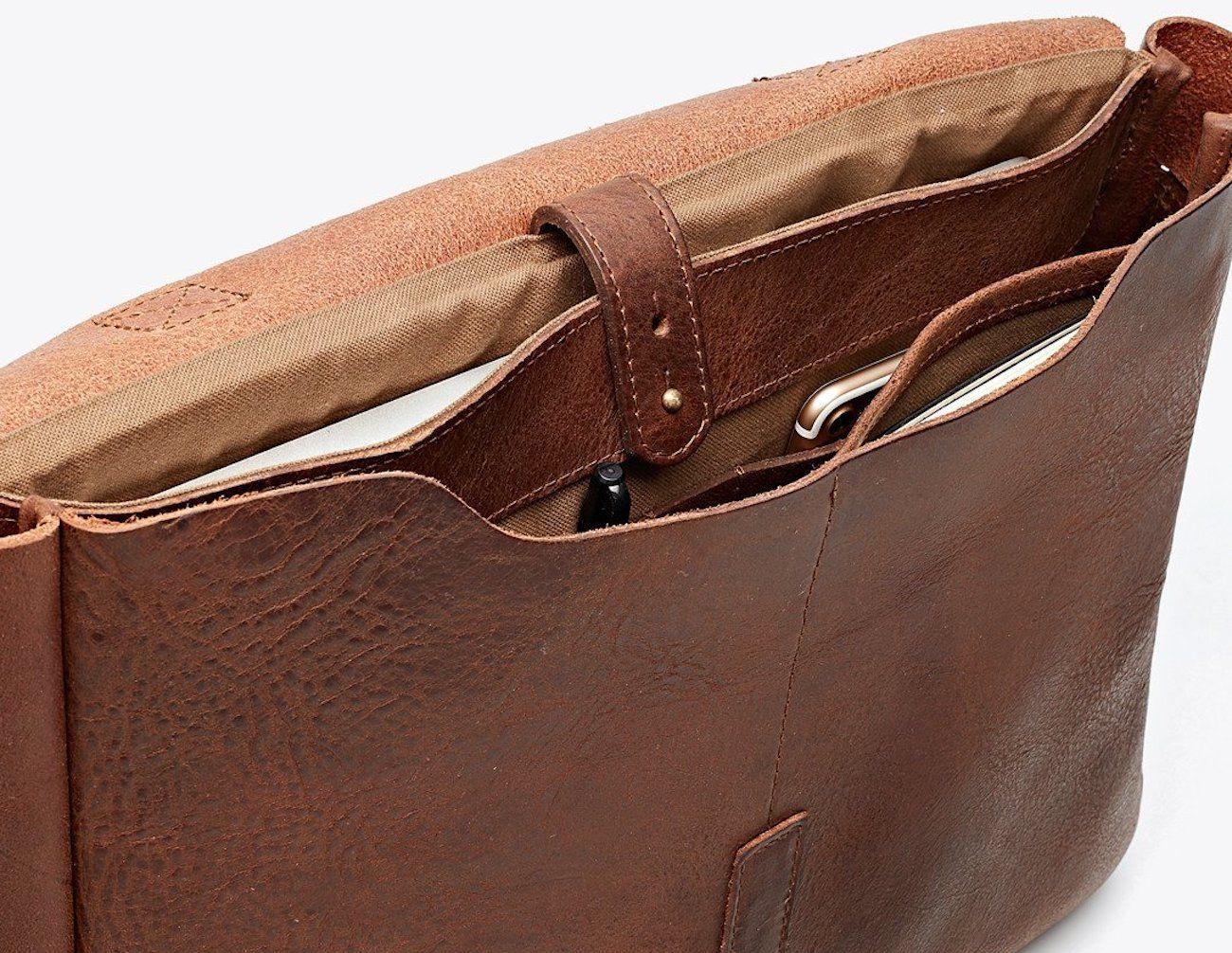 Nisolo Loreto Leather Messenger Bag