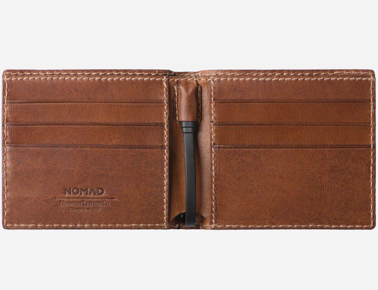Nomad Bi-Fold Leather Charging Wallet