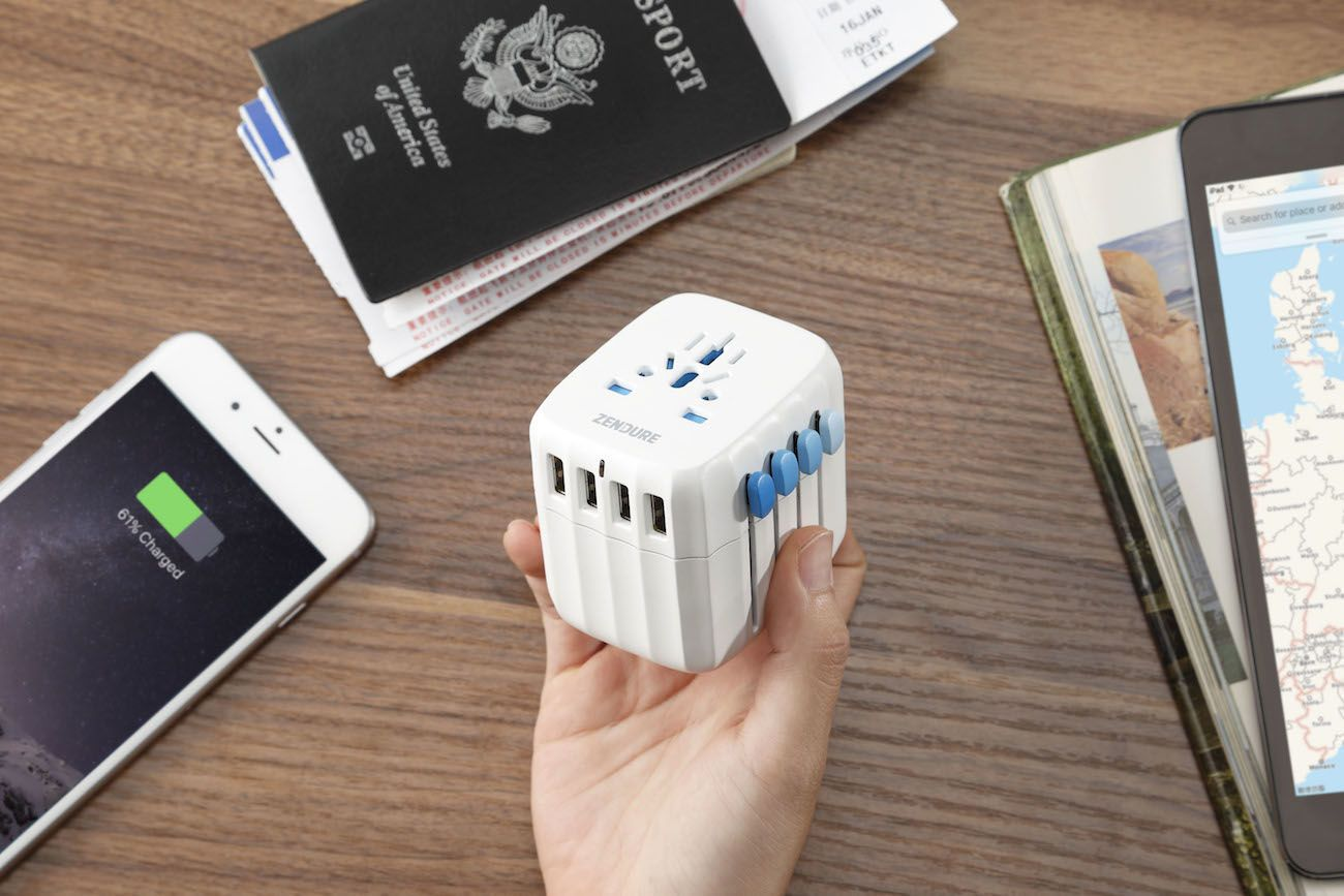 Passport-Global Travel Adapter with Auto-Resetting Fuse