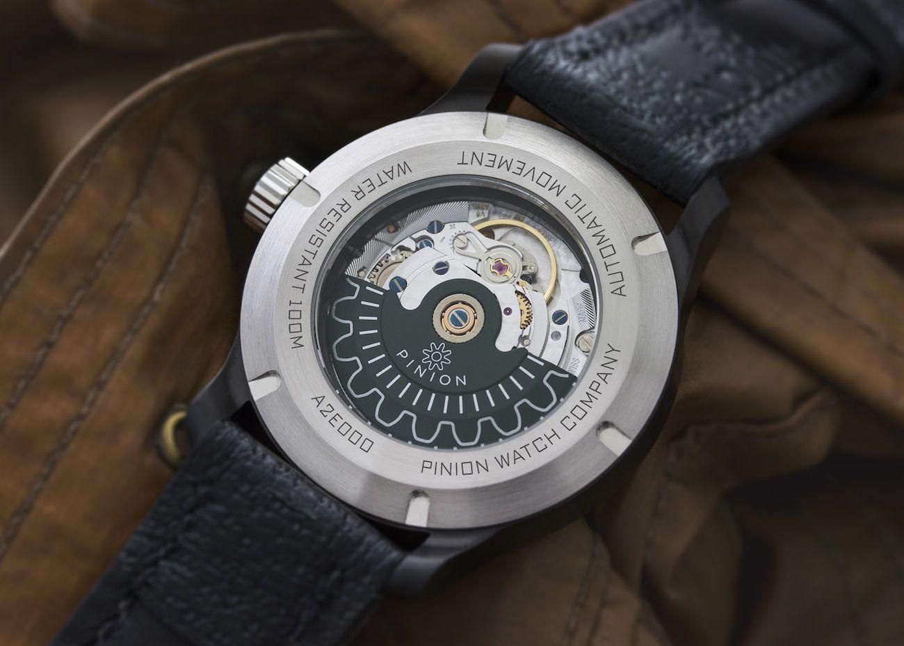 Pinion Axis II Black Automatic Watch
