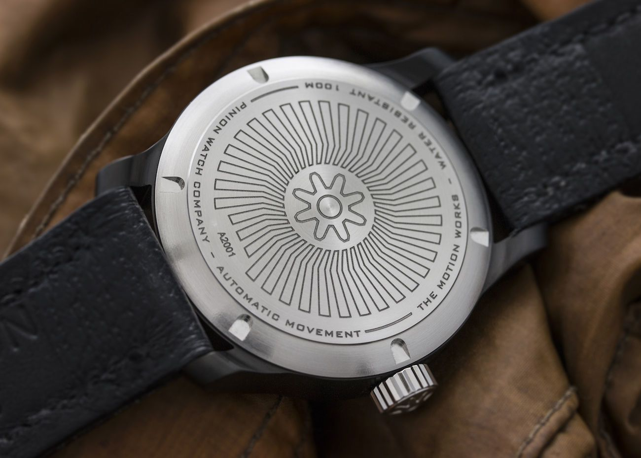 Pinion Axis II Black Automatic Watch