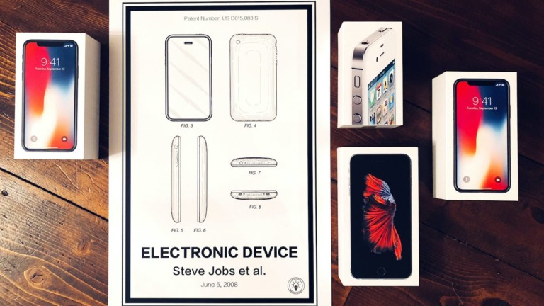 Retro Patents Electronic Device iPhone patent poster is stunning art of the early device