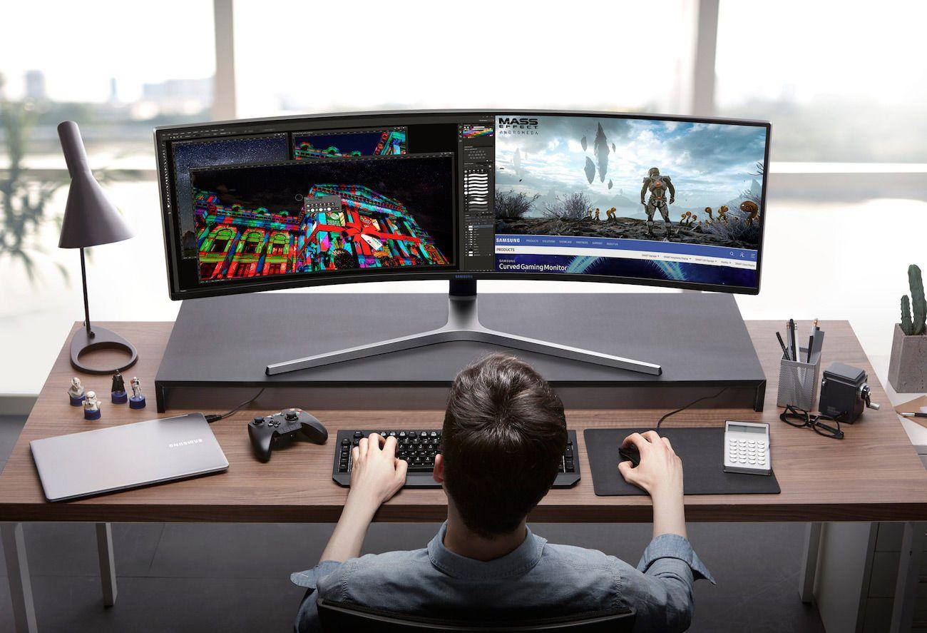 samsung chg90 qled gaming monitor gadget flow. Black Bedroom Furniture Sets. Home Design Ideas