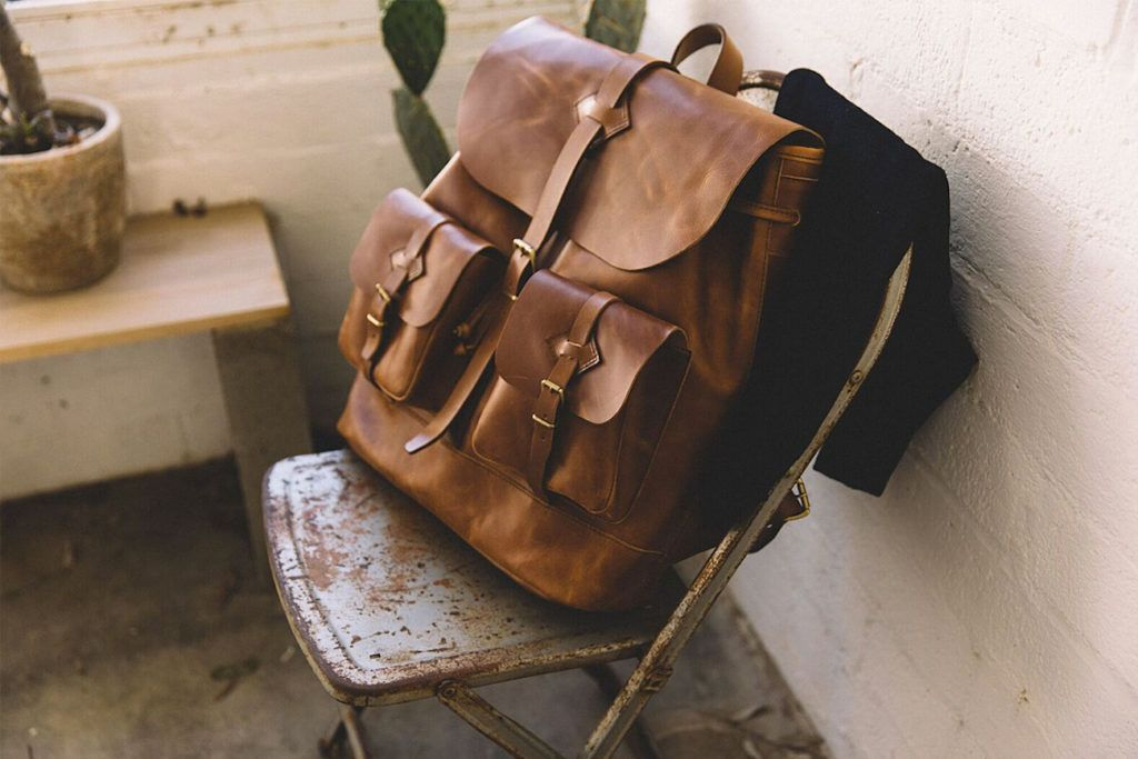 Scout+All-Leather+Backpack
