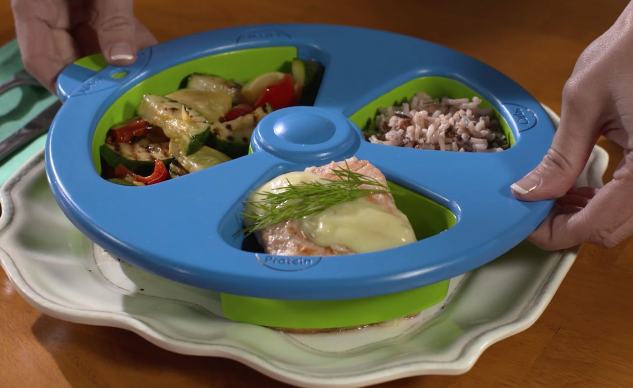 portion control plates skinnyplate portion plate 187 gadget flow 13085
